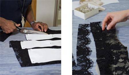 The lace jacket pattern cutting