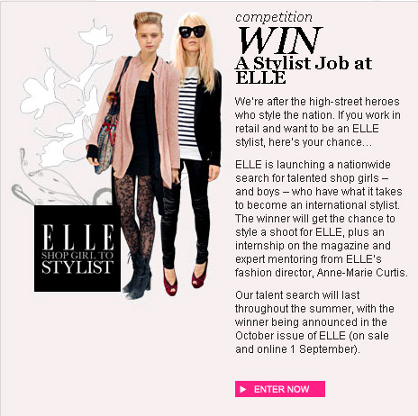 Enter the Shopgirl to Stylist Competition at Elle