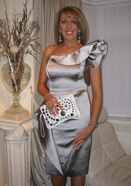 Karen Millen silver dress -  Facebook winner