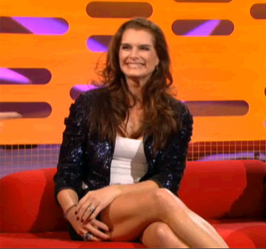 Brook Shields on Graham Norton in the Karen Millen sequin jacket