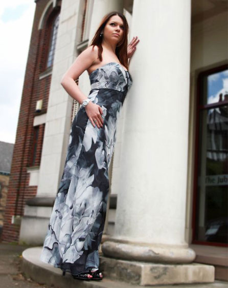 Lucy Barber in this summer's must have maxi