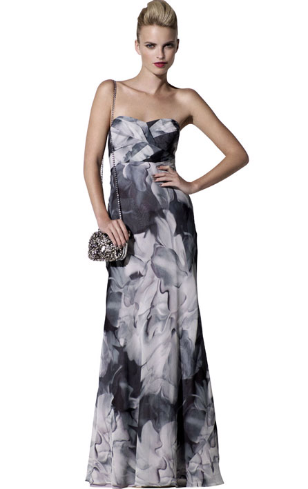Shop for the watercolous maxi dress at Karen Millen