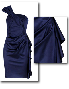Buy the blue draped dress