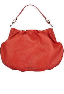 Red designer bag from Karen Millen