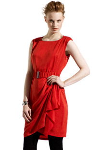 Red Draped Dress from Karen Millen