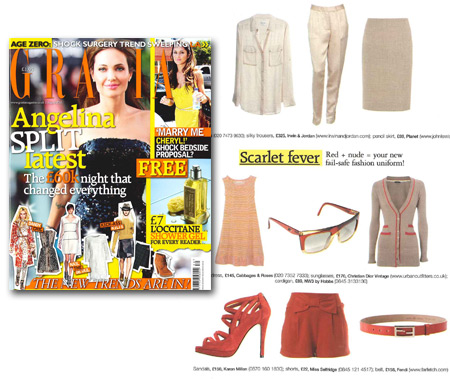 Buy the red caged sandal as featured in Grazia