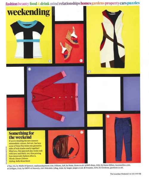 Buy the colourblock dress as featured in The Guardian