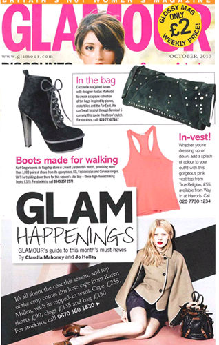 Camel Cape in Glamour Magazine - buy now