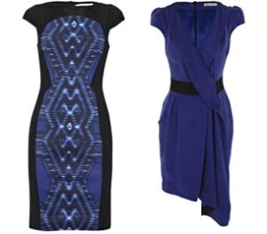 Contrast Print Dress / Contrast Draped Dress