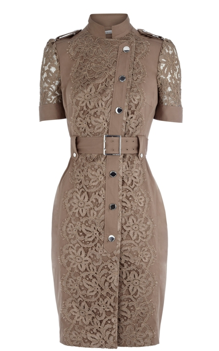 8cd58a1d1063 This weeks Atelier story focuses on our Khaki Lace Dress  this fabulous  stretch cotton shirt-dress features scalloped French lace and is the  seasonal style ...